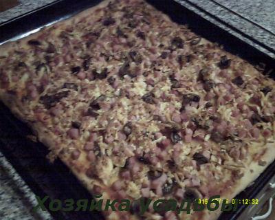 пицца домашняя рецепт приготовления с фото