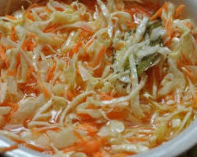Рецепт горячего маринада капусты