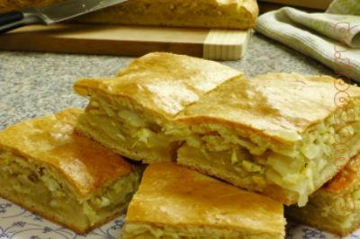 Песочный пирог с капустой, рецепты.