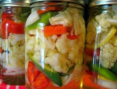 Рецепты из цветной капусты на зиму.