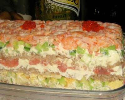 Вкусный салат с красной рыбой - рецепты к праздничному столу