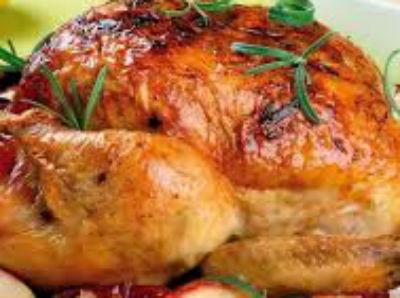 Курица фаршированная яблоками в духовке - рецепты