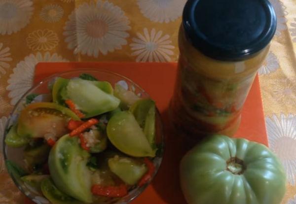 Зелёные помидоры по-корейски - самые вкусные рецепты с фото