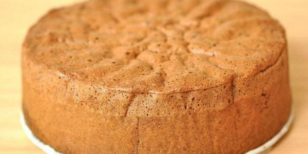 Бисквит на кефире в духовке для торта