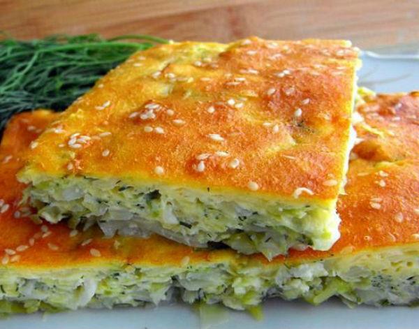Пирог со свежей капустой на кефире