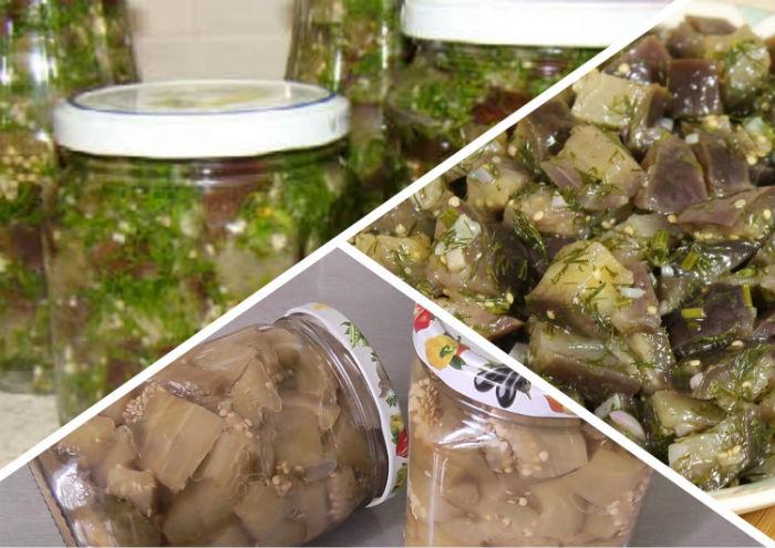 Консервированные баклажаны, как грибы
