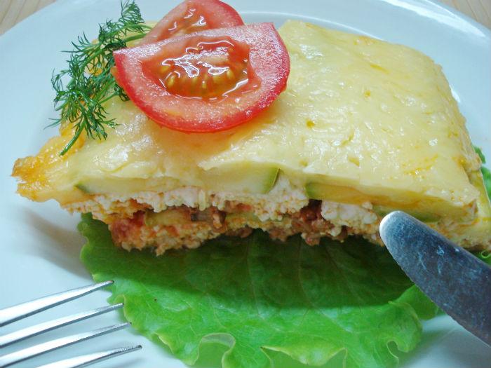 Рецепт лазаньи с кабачками.